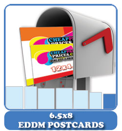 cheap 6.5x8 every door direct mail postcards
