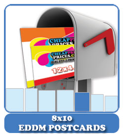 cheapest price 8x10 eddm postcards