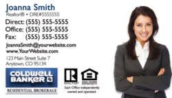 coldwell banker business card design 01b - Coldwell Banker Business Cards