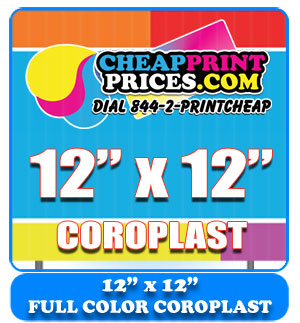 cheap plastic coroplast full color signs