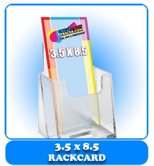 cheap 3.5x8 rack card printing price