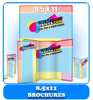 cheapest 8.5x11 brochures