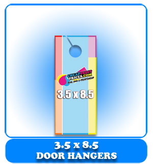 cheap 5.5x8.5 door hanger