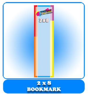 Cheap 2x8 bookmark
