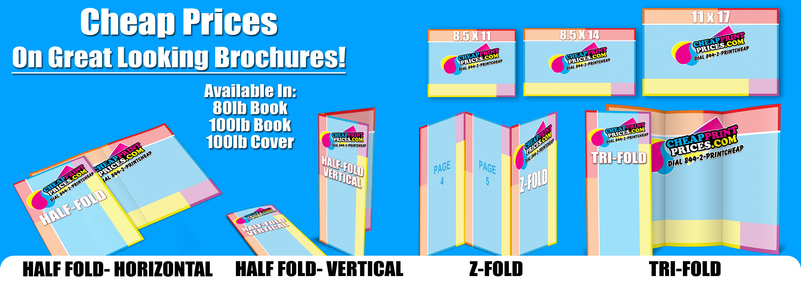 Brochure Printing with Free Folding