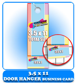 door hanger with business card cheap