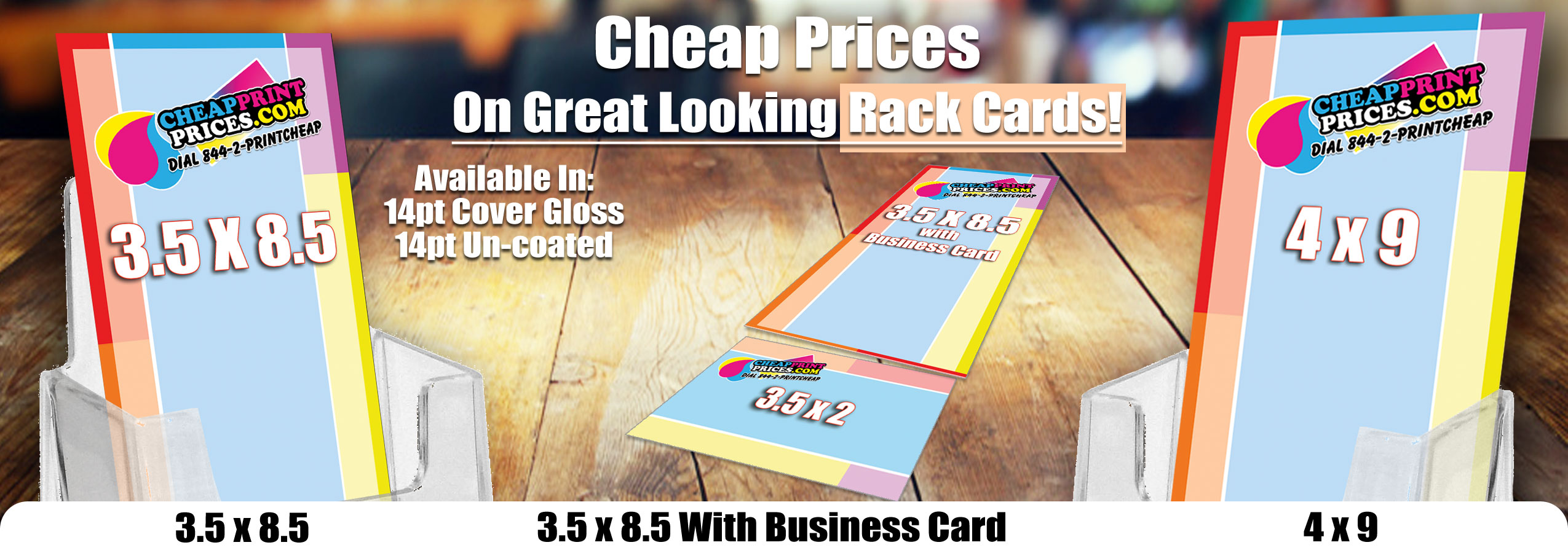Rack Card Printing - 5000 Rackcards $189 Free Shipping
